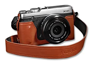 Fujifilm X-E1 Half Case Camera Case (Brown)
