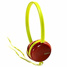 buy Adjustable Circumaural Over Ear Round Candy Colorful Earphone Headphone For Pc Mp3 Mp4 Ipod Iphone Ipad Tablet - Red Gift For Girl