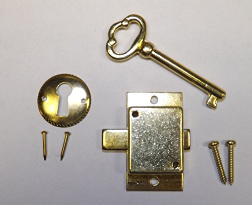 Grandfather Clock Door Lock & Key Set NEW Brass Ridgeway Howard Miller Sligh
