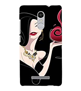 PrintVisa Stylish Party Girl Art 3D Hard Polycarbonate Designer Back Case Cover for Xiaomi Redmi Note 3
