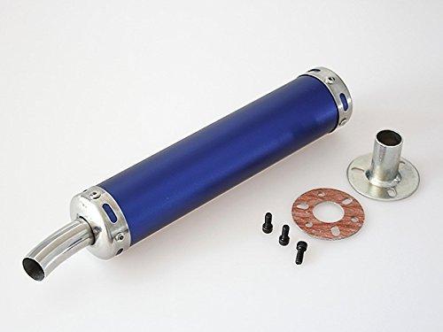 アルミ サイレンサー(青) チャンバーに ホンダ NS-1、NS50F、NSR50、NSR80、NSR125、NSR250R