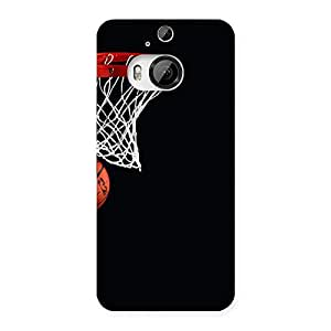 Stylish Basket Ball Multicolor Back Case Cover for HTC One M9 Plus