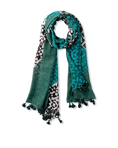 RAFE NEW YORK Women's Santa Fe Geometric Scarf, Slate Multi