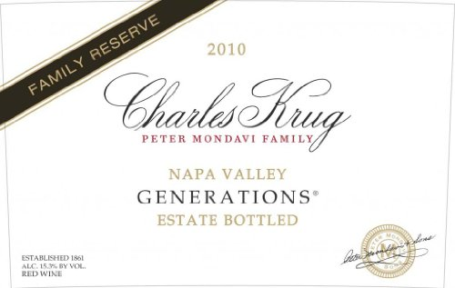 2010 Charles Krug Winery Family Reserve Generations Red Blend Napa Valley 750 Ml