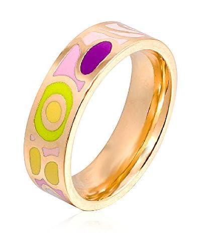 ROSE SALOME JEWELS Ring R001S vergoldeter Stahl 18 Karat