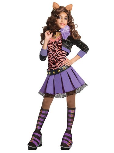 Monster High Deluxe Clawdeen Wolf Costume Bundle With Accessories ( SIZE M )