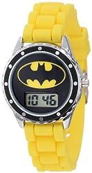 Batman Kids BAT4048 Yellow Rubber Batman Logo Strap Casual Watch