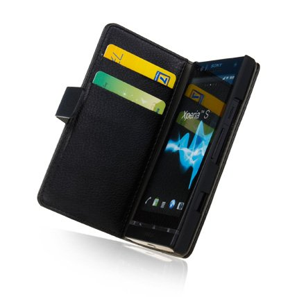 wholesale dealer 4a416 96efc Ecell Luxury Leather Wallet Case with CC Slots for Sony - Import It All