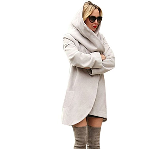 Xinantime Casuale Giacca Manica Lunga Cappotto Donna Trench Coat Cardigan
