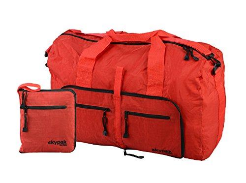 Skypak-Borsone da viaggio pieghevole 53 cm, cabina rosso Carry-on