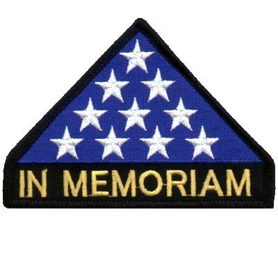 In Memoriam Military Veteran Embroidered Biker Patch!!!