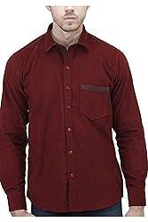 Unixx Men's Casual Shirt (UXXS-15_Maroon_40)
