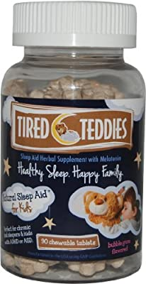 Tired Teddies Natural Sleep Aid for Kids -- Home Size (90 co.)