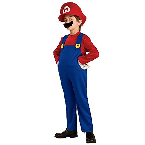 Super Mario Bros Deluxe Mario Boys Childrens Costume (Boys Large)