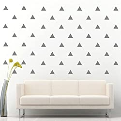 Triangle Removable Wall Vinyl Decal Sticker Wall Decor (Silver 4