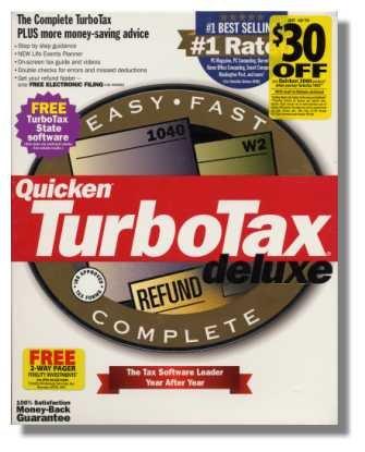 Quicken TurboTax Deluxe {Federal Return Tax Year 1999}