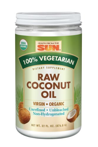 Health From The Sun Coconut Oil, Organic Raw, 32-Ounce