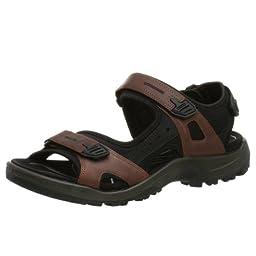 ECCO Men\'s Yucatan Sandal,Bison/Black/Black,47 EU (US Men\'s 13-13.5 M)