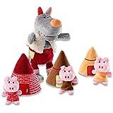 Lilliputiens, Wolf Handpuppet and 3 Little Pigs