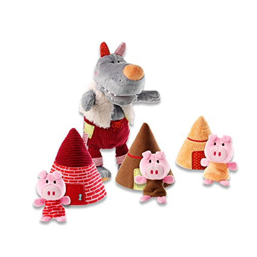 Lilliputiens, Big Bad Wolf & Three Little Pigs Storybook Plush
