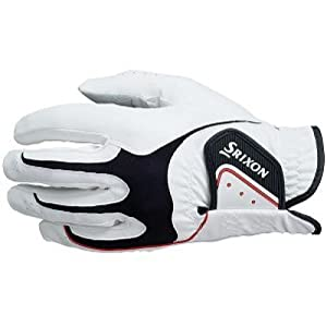 Srixon Men's All Weather Glove (Left Hand Glove for Right Handed Golfer) - White, Large