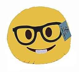 GeekBuds Emoji Pillow, Soft Plush Nerd Face