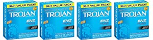 Trojan Condom ENZ IqiDn Lubricated, 36 Count (Pack of 4) fkxXi