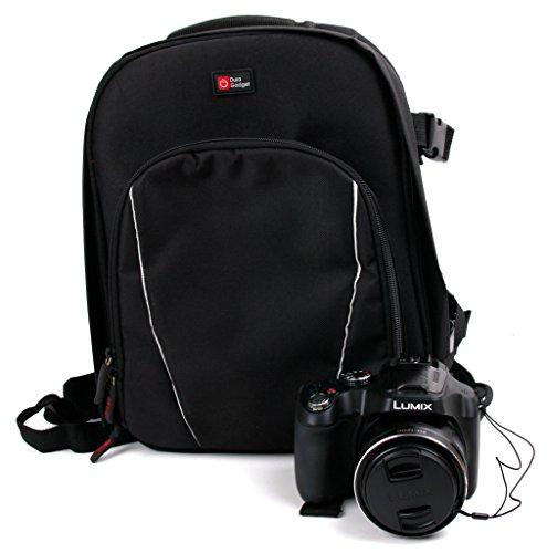 Sac à dos de transport et de rangement DURAGADGET pour appareil photo Panasonic Lumix FZ72 et LZ30E, FZ1000, FZ300, GM1, LX100 et G70 - noir et gris