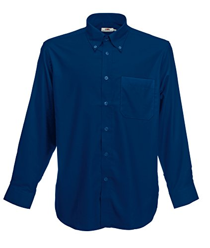 Fruit Of The Loom - Camicia Maniche Lunghe - Uomo (XL) (Blu navy)