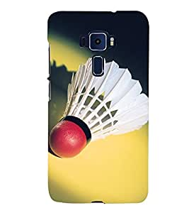 SHUTTLE COCK LYING IN A YELLOW BACKGROUND 3D Hard Polycarbonate Designer Back Case Cover for Asus Zenfone 3 ZE552KL::Asus Zenfone 3 (5.5 INCHES)