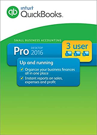 QuickBooks Pro 3-User 2016 Small Business Accounting Software