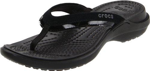 Crocs Women'S 11039 Vezzy Sandal,Black/Black,9 M Us front-955964