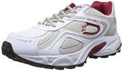 Sparx Mens White and Maroon Synthetic Running Shoes - 9 UK (SM-171)