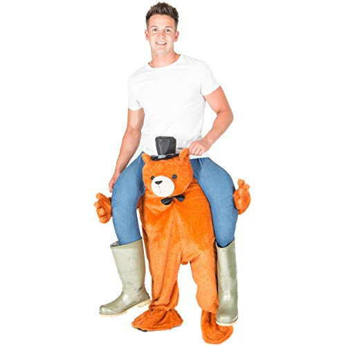 Ride Me Stuffed Carry On Monkey Adult Fancy Dress Costume (Teddy Bear) (Teddy Bear Costumes compare prices)