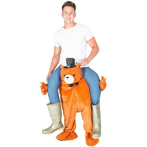 Ride Me Stuffed Carry On Monkey Adult Fancy Dress Costume (Teddy Bear) (Teddy Bear Dress compare prices)