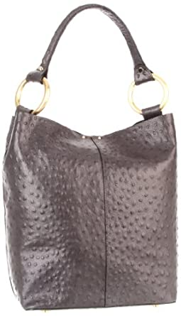 Sequoia Paris Handle Gold S43-002 Tote,Black Ostrich,One Size