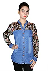 Cherry Clothing Women's Shirt (CGS1013 L_Black_Large)