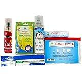 Aringel Mosquito Repellent Patch Second Generation (Pack Of 10 Pcs) + Magic Towel + Afterbite + Aringel Mosquito Repellent Cream + Aringel Mosquito Repellent Spray (mint) + Sit Safe - Toilet Seat Sanitizer