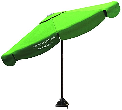 Morshade 180 9-Feet Shade Till Sunset With Base Stands In 40Mph Wind Home And Portable Shade Umbrella Canopy