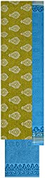 Princess Women's Cotton Unstitched Dress Material (Yellow)
