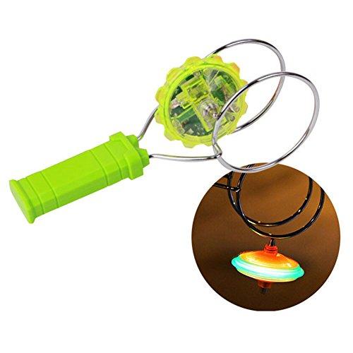 Upmall hand spinner magnetic gyro wheel hand held light up for Light up fishing spinners