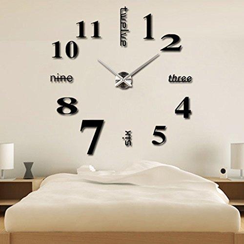 Moderno stile semplice DIY grande 3D orologio da parete Sticker tempo per casa e ufficio decorazione
