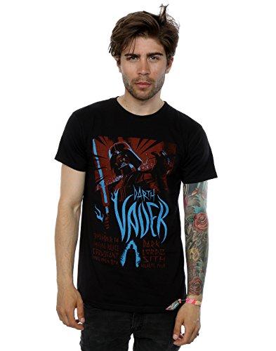 Star-Wars-Camiseta-Manga-corta-para-hombre-Negro-negro-Small