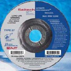 "Sait Stainless Steel Grinding Wheel - 4 1/2"" X 1/4"" Type 27 20064"