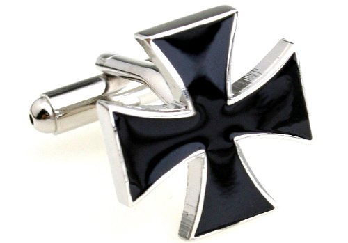 Personalized Copper Cross Black Cufflinks Quantity Available