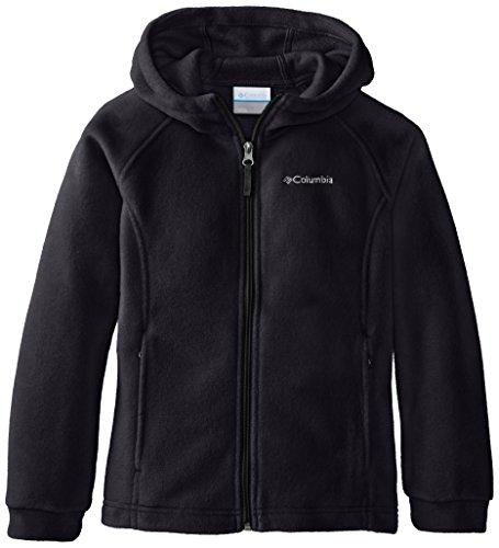 Columbia Big Girls' Benton II Hoodie, Black/Black, Small (Hood Fleece Jacket compare prices)