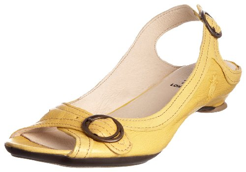 Fly London Women's Lodi Yellow Open Toe Flat P141516011 3 UK