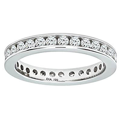 Ariel 18ct 1 Carat Diamond Channel Set Eternity Ring