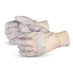 Superior 66TKi Teammate Standard Quality Split Leather Safety Gloves with Cotton Lined Palms and Knit Wrist, Work, Mens (Pack of 1 Dozen)