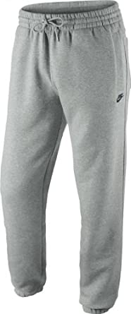 Nike Men's Fleece Training Joggers Jogging Pants Tracksuit Bottoms grey / embroidered logo X-Large